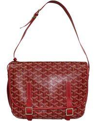 Goyard Red Ine Coated Canvas Belvedere Mm Messenger Bag