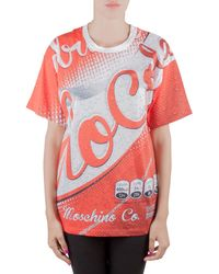 Moschino Couture Red Soda Can Printed Cotton Oversized T Shirt