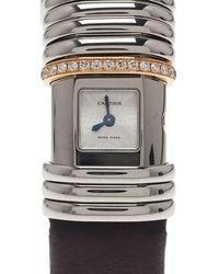 Cartier - Titanium And Gold Link Declaration Women's Wristwatch 16mm - Lyst