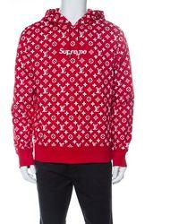 Supreme X Louis Vuitton Red Box Logo Hooded Jacket L