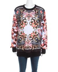 Givenchy Multicolor Roses And Birds Of Paradise Cotton Knit Sweatshirt