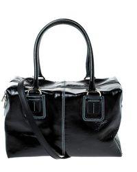 Tod's Black Patent Leather Box Satchel