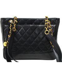 9fb418cf616 Lyst - Chanel Black Quilted Lambskin Medium Camera Bag in Black