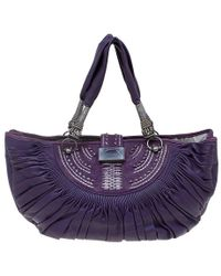 Dior - Pleated Leather Plisse Tote - Lyst