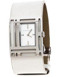 Burberry Silver Stainless Steel Bu4650 Wristwatch - White