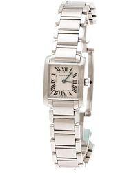 Cartier Tank Française Silver Steel Watches - Metallic