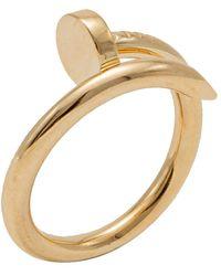 Cartier Yellow Gold Juste Un Clou Ring Size 56 - Metallic