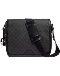 Gucci Black GG Supreme Canvas Messenger Bag