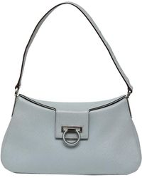 Ferragamo - Light Saffiano Leather Shoulder Bag - Lyst