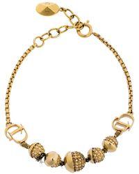 Dior Crystal Mise En Gold Tone Bracelet - Metallic