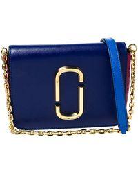 Marc Jacobs Multicolour Leather Hip Shot Convertible Belt Bag - Blue