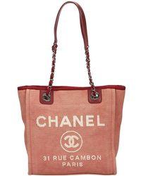 Chanel - Canvas Mini Deauville Tote - Lyst