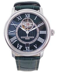 Frederique Constant Green Stainless Steel And Leather Classics Automatic Men's Wristwatch 38mm