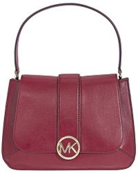 9f6f69a1a831 Lyst - Michael Kors Michael Dark Leather Medium Lillie Shoulder Bag ...