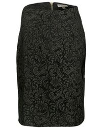 Burberry - London Olive Floral Lace Pencil Skirt S - Lyst