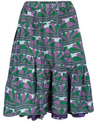 Marc Jacobs - Multicolor Printed Ruffle Bottom Layered Skirt - Lyst