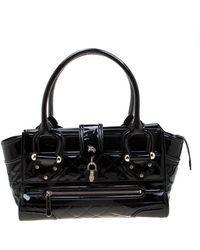 Burberry Patent Leather Handbag - Black
