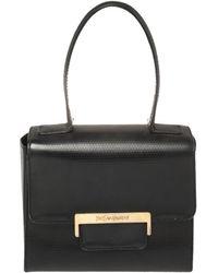 Saint Laurent Black Leather Top Handle Bag