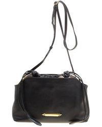 Burberry - Leather And House Check Fabric Little Crush Crossbody Bag - Lyst