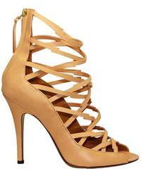 Isabel Marant Beige Leather Sandals - Natural