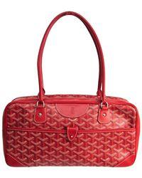 Goyard Red Coated Canvas Ine Saint Martin Bag