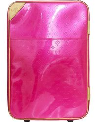 Louis Vuitton Rose Pop Monogram Vernis Pegase 55 Suitcase - Pink