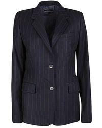 JOSEPH Black Striped Wool Tailored Blazer