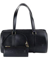 Louis Vuitton - Noir Epi Leather Soufflot Bag - Lyst