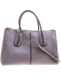 Tod's - Lilac Leather D-styling Shopper Tote - Lyst