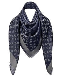 Louis Vuitton Blue Nuit Monogram Shine Shawl