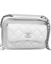 13c96bd98ac9 Chanel - White Quilted Leather Shoulder Bag - Lyst