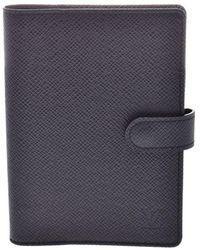 Louis Vuitton Ardoise Taiga Leather Agenda Planner Cover Gm - Black