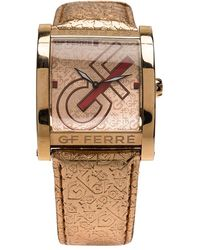 Gianfranco Ferré Pink Gold-plated Stainless Steel 9046m Wristwatch 36mm - Metallic