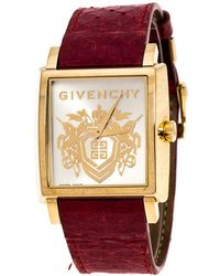Givenchy Gold Plated Stainless Steel Gv.5214m Unisex Wristwatch 38 Mm - Red