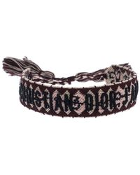 Dior J'a Multicolor Woven Adjustable Tassel Bracelet