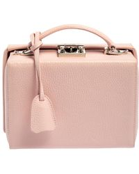 Mark Cross Light Pink Leather Small Grace Box Bag