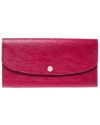 Louis Vuitton Fuchsia Epi Leather Sarah Wallet - Pink