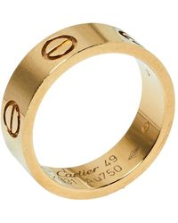 Cartier Love 18k Yellow Gold Ring