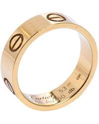 Cartier Love 18k Yellow Gold Band Ring 53 - Metallic