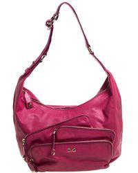 Dolce & Gabbana Pink Leather Mindy Hobo Bag