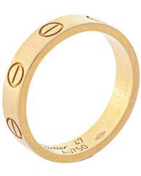 Cartier Love 18k Yellow Gold Narrow Wedding Band Ring