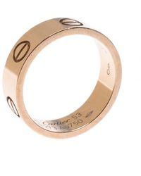 Cartier Love 18k Rose Gold Band Ring Size 53 - Metallic
