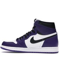 Nike Jordan 1 Retro High Court Purple White Trainers