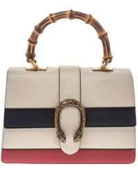 Gucci Tricolor Leather Medium Dionysus Bamboo Top Handle Bag - Multicolor