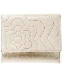 Montblanc Off White Leather Strarisma Compact Wallet