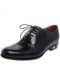 Balmain Black Leather Lace Up Oxfords