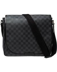 Louis Vuitton Damier Graphite Canvas Renzo Messenger Bag - Black