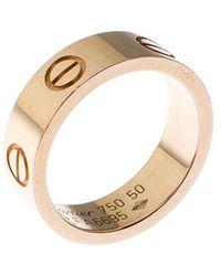 Cartier Love 18k Rose Gold Band Ring Size 50 - Metallic
