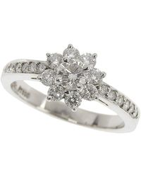 Tiffany & Co. Flora Diamond Platinum Ring Size 49 - Metallic