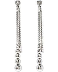 Dior - Beaded Tassel Tone Long Earrings - Lyst